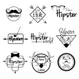 Hipster label set Stock Photo