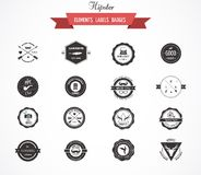 Hipster lables, badges and elements Stock Photography