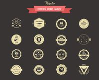 Hipster lables, badges and elements Royalty Free Stock Images