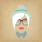 Hipster Lady Stock Photo