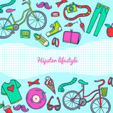 Hipster lifestyle icon collection Royalty Free Stock Images