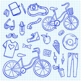 Hipster lifestyle icon collection Stock Images