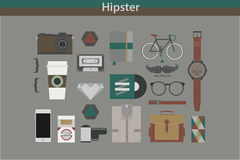 Hipster. Lifestyle and objects that are unique royalty free illustration
