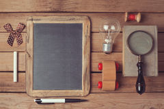 Hipster lifestyle. Vintage and modern objects collection. View from top Royalty Free Stock Images