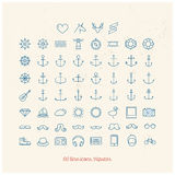 Hipster line icons Royalty Free Stock Photos