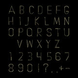 Hipster linear font, vector alphabet Royalty Free Stock Images