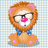 Hipster Lion Royalty Free Stock Image
