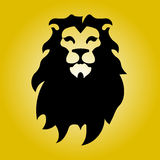 Hipster logotype with head of lion Stock Photo