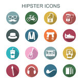 Hipster long shadow icons Stock Photo