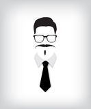 Hipster man with black tie Royalty Free Stock Photos