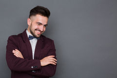 Hipster man in business suit Stock Photo
