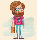 Hipster man stock illustration