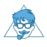 Hipster man icon image vector illustration