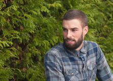 Hipster man looking aside Royalty Free Stock Photography