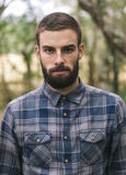 Hipster man portrait outdoors. Royalty Free Stock Images