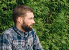 Hipster man portrait Stock Image