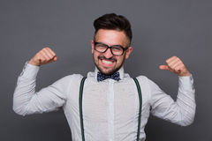Hipster man in studio Stock Photos