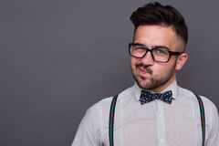 Hipster man in studio Stock Images