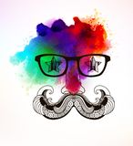 Hipster man. Vector illustration, EPS 10. Stock Photo