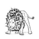 hipster manifesto stampa Cartolina d'auguri con gli animali leo royalty illustrazione gratis