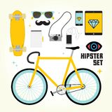 Hipster mast have vector objects. Set Royalty Free Stock Photography