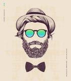 Hipster med hatten Fotografering för Bildbyråer