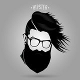 Hipster men fashion sign Royalty Free Stock Images