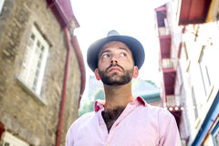 Hipster men Stock Images