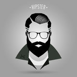 Hipster men style 02. Hipster men style sign on gray background Stock Photography