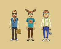 Hipster men Stock Photo