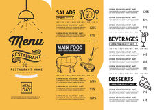 Hipster menu design. Stock Images