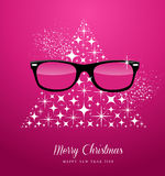 Hipster Merry Christmas and Happy New Year greetin Royalty Free Stock Photography