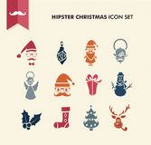 Hipster Merry Christmas icons set EPS10 file. Stock Photo