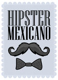 Hipster Mexicano - Mexican Hipster spanish text Stock Photos