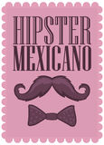 Hipster Mexicano - Mexican Hipster spanish text -  Royalty Free Stock Images