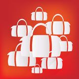 Hipster modern bag icon Royalty Free Stock Images