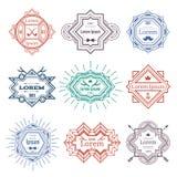 Hipster modern emblems Stock Photo