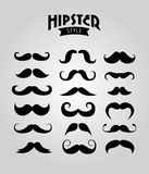 Hipster moustaches Royalty Free Stock Photos