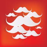 Hipster moustaches icon Royalty Free Stock Photos