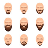 Hipster mustache and beards icons vector set Stock Photo