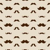 Hipster Mustaches Vector Seamless Pattern Royalty Free Stock Image