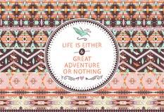 Hipster naadloos Azteeks patroon met geometrische elementen stock illustratie
