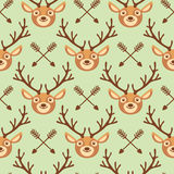 Hipster naadloos patroon met herten en pijlen Royalty-vrije Stock Foto