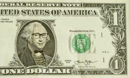 Hipster Nerd George Washington Stock Photos