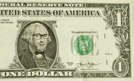 Hipster Nerd George Washington Royalty Free Stock Image