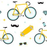 Hipster objects pattern Royalty Free Stock Photos