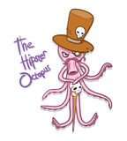 Hipster Octopus Royalty Free Stock Photo