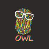 Hipster owl Stock Photography