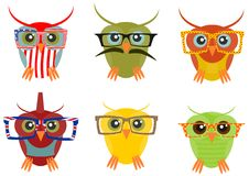 Hipster owl Stock Photos