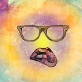 Hipster painted background Stock Images